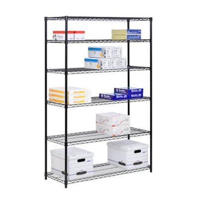 Honey Can Do Six Tier Steel Shelving in Black
