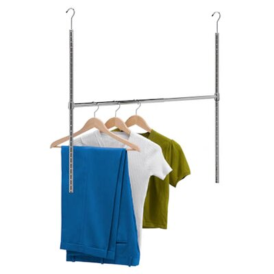 Honey Can Do Adjustable Hanging Closet Rod in Chrome