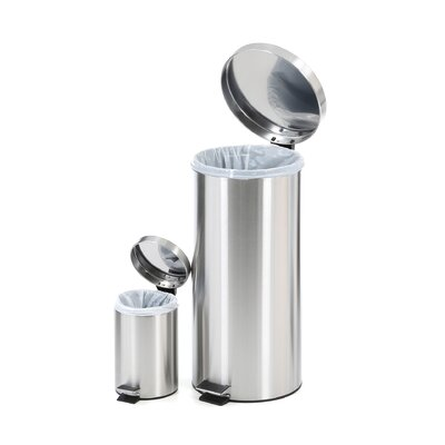 Honey Can Do 7.92-Gal. Stainless Steel Step Trash Can