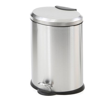 12 Liter Oval Stainless Steel Step Trash Can