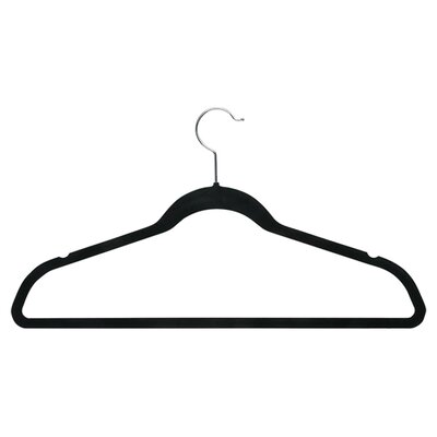 Honey Can Do Velvet Touch Suit Hanger in Black (50 Pack)