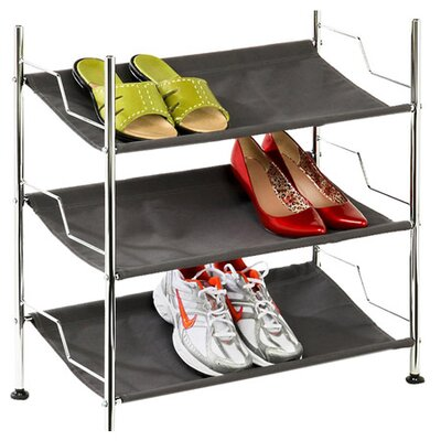 <strong>Honey Can Do</strong> 3 Tier Canvas Shoe Rack