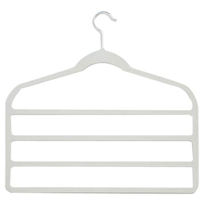 Velvet Touch Four Tier Pant Hanger in White (10 Pack)