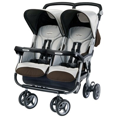 Peg Perego Aria Twin 60 / 40 Double Stroller in Java