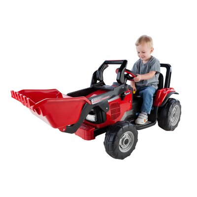 Peg Perego Case IH Power Scoop 12V Battery Powered Tractor