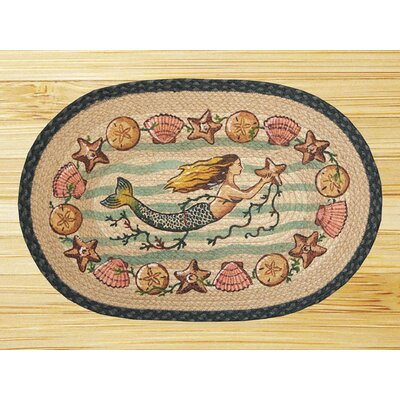 Earth Rugs Mermaid Starfish Novelty Rug