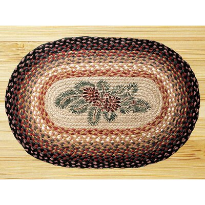 Earth Rugs Pinecone Berry Novelty Rug