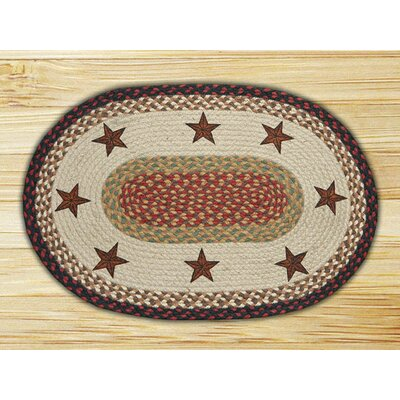 Earth Rugs Barn Stars Novelty Rug