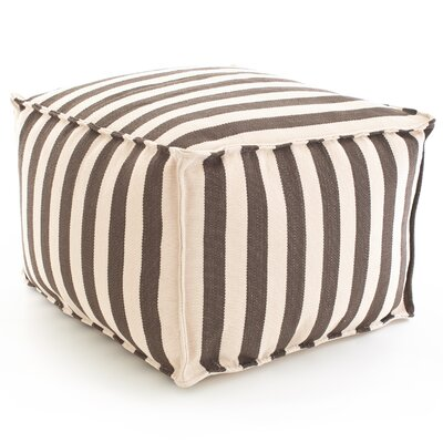 Dash and Albert Rugs Fresh American Trimaran Stripe Cube Ottoman