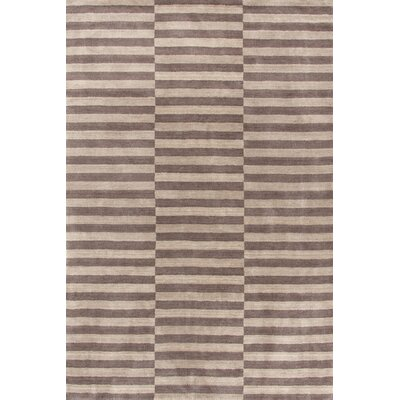 Dash and Albert Rugs Marled Ladder Ivory/Grey Graphic Rug
