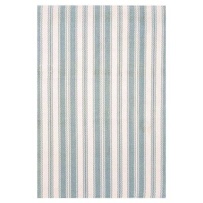 Dash and Albert Rugs Woven Coastal Living Light Blue/Ivory Indoor/Outdoor Rug