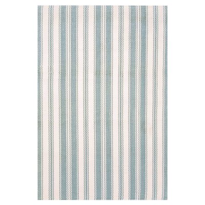<strong>Dash and Albert Rugs</strong> Woven Coastal Living Light Blue/Ivory Rug