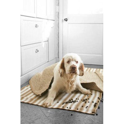 Dash and Albert Rugs Woven Diamond Khaki/White Rug
