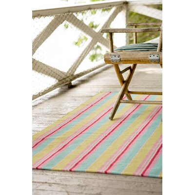 Dash and Albert Rugs Woven Palm Beach Ticking Rug