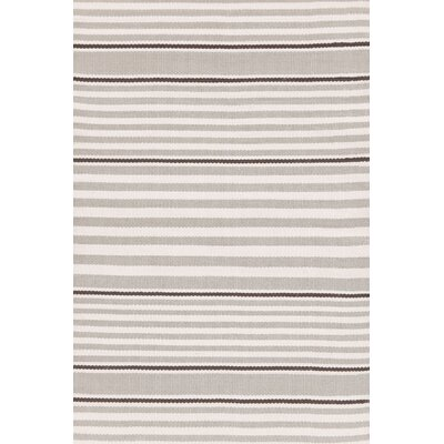 Dash and Albert Rugs Indoor/Outdoor Beckham Platinum Striped Rug