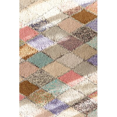 Cotton Hooked Harlequin Rug