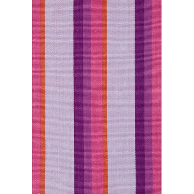 Dash and Albert Rugs Woven Cotton Quartz Striped Rug