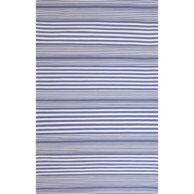 Dash and Albert Rugs Indoor/Outdoor Rugby Denim Striped Rug