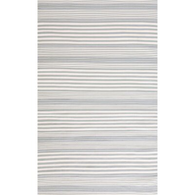 Dash and Albert Rugs RugbyIndoor/Outdoor Light Blue Striped Rug