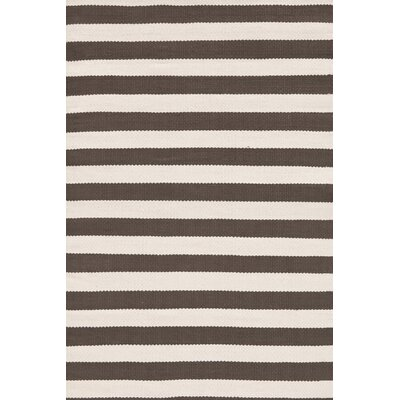 Dash and Albert Rugs Indoor/Outdoor Trimaran Charcoal/Ivory Striped Rug