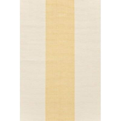 Dash and Albert Rugs Woven Cotton Yacht Sunhaze Striped Rug