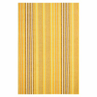 Woven Sunflower Ticking Rug