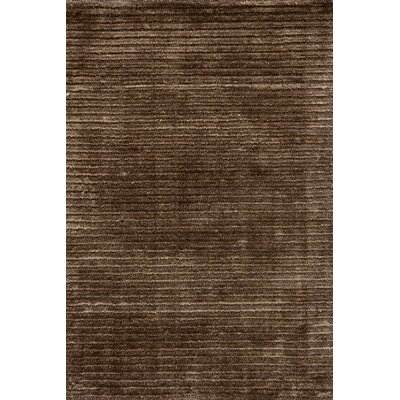 Dash and Albert Rugs Cut Stripe Brown Rug
