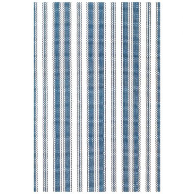 Dash and Albert Rugs Royal Woven Lighthouse Denim/White Indoor/Outdoor Rug