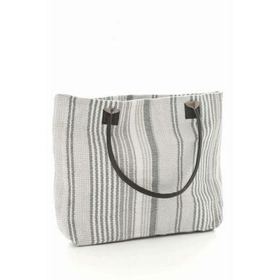 Dash and Albert Rugs Gradation Ticking Woven Cotton Tote Bag