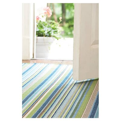 Dash and Albert Rugs Woven Fisher Ticking Rug