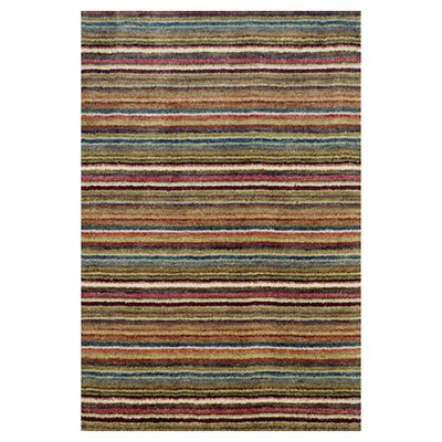 Dash and Albert Rugs Tufted Brindle Stripe Spice Rug