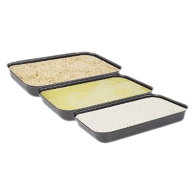 Non-Stick Breading Pans (Set of 3)