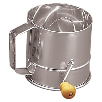 <strong>Fox Run Craftsmen</strong> Stainless Steel Crank Sifter (3 Cups)