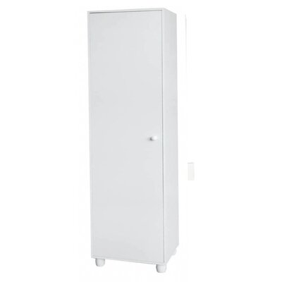 Hazelwood Home One Door Storage Cabinet in White