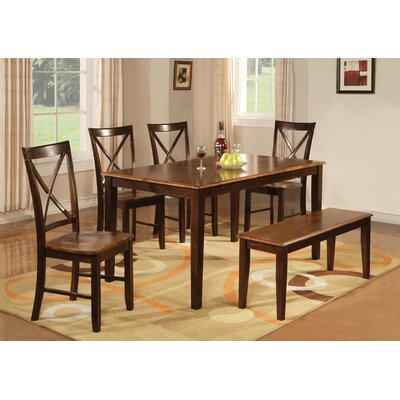 Hazelwood Home Hazelwood Home 6 Piece Dining Set