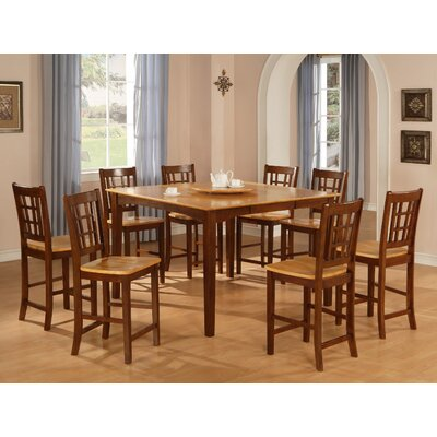 Hazelwood Home Hazelwood Home 9 Piece Counter Height Dining Set