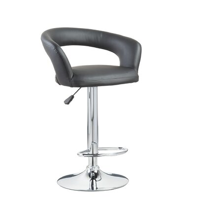 "Hazelwood Home Hazelwood Home 17"" Two Adjustable Faux Leather Bar Stools"