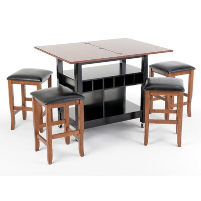 Imagio Home by Intercon Perfect Fit 5 Piece Counter Height Dining Set