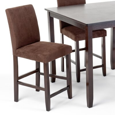 Imagio Home by Intercon Lofts Microfiber Parsons Barstool in Dark Chocolate