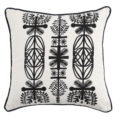 Kreme Screen Print Branches Pillow