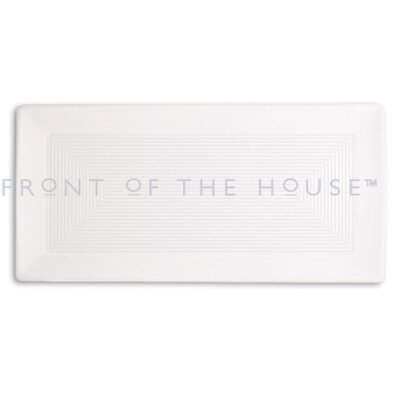 "Front Of The House Spiral 14"" x 7""  Rectangle Plate"