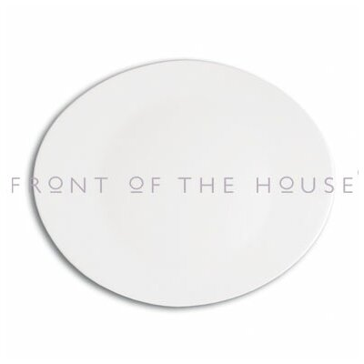 "Front Of The House Ellipse 12"" Plate"
