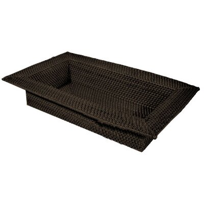 Front Of The House Rattan Wide Rim Serving Tray