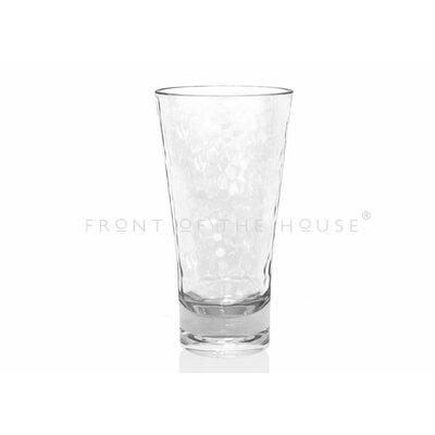 Front Of The House Drinkwise Hammered Highball Glass