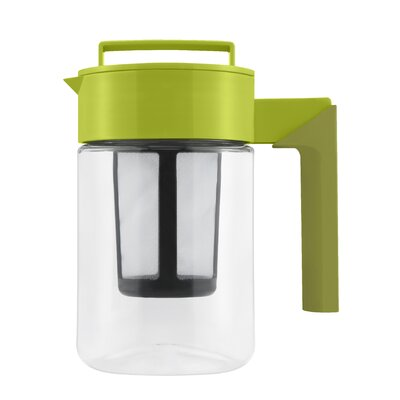 Takeya 24 Oz Tea Maker with Avocado Lid and Silicone Handle in Olive
