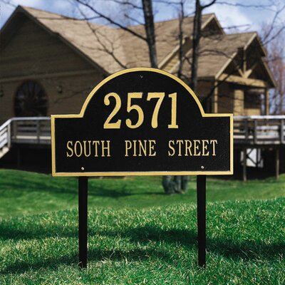 Whitehall Products Arch Marker Estate Address Sign