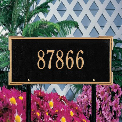 Whitehall Products Roanoke Standard Address Sign