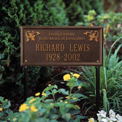 Wilmington Standard 'Living Eternally' Lawn Memorial Sign