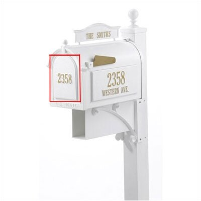 Whitehall Products White Personalized Mailbox Door Panel