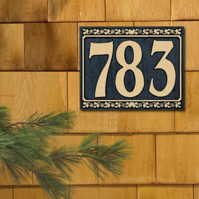 Whitehall Products Dresden Standard Address Plaque